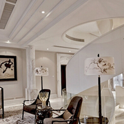 欧式别墅室内创意旋转楼梯装饰