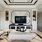 复式楼后现代风格电视柜装饰