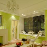 美式清新风格亮色系卧室飘窗装饰