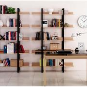 复式楼简约风格混搭书柜装饰