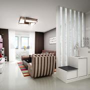现代简约风格客厅玻璃隔断装饰