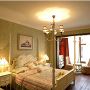 别墅韩式简约风格卧室壁纸