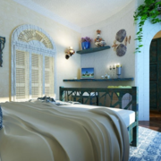 地中海风格卧室置物架装饰