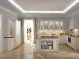 单身公寓现代欧式厨房吊顶装修效果图