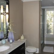 卫生间现代简约风格镜饰装饰