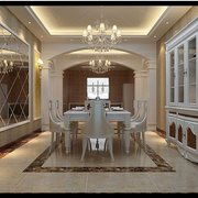 欧式奢华风格整体酒柜装饰