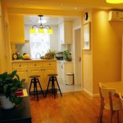 美式简约风格别墅厨房创意灯饰