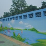 幼儿园简约围墙壁纸装饰