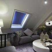 后现代风格阁楼客厅沙发装饰