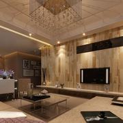 复古现代风格客厅设计