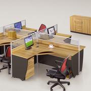 经典简约电脑办公桌装修