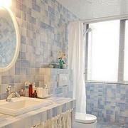 时尚小面积卫生间装修设计
