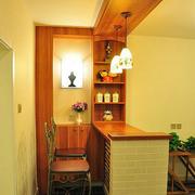 时尚美式家庭吧台装修设计
