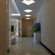 潮流客厅走廊吊顶设计