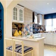 经典地中海开放式厨房装修