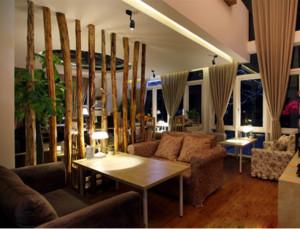 法式复古咖啡厅餐桌餐椅装修效果图