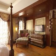 复古欧式奢华别墅窗帘设计