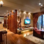大气东南亚客厅装修