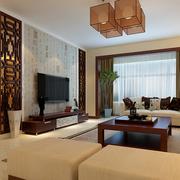 中式混搭风格客厅装修