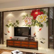 经典家庭客厅电视墙瓷砖装修