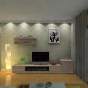 精装大户型客厅电视背景墙装修