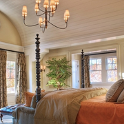 唯美美式别墅窗帘设计