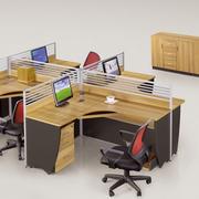 经典现代电脑办公桌装修