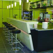 简约奶茶店吧台