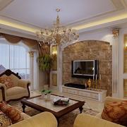 高档美式别墅电视背景墙设计