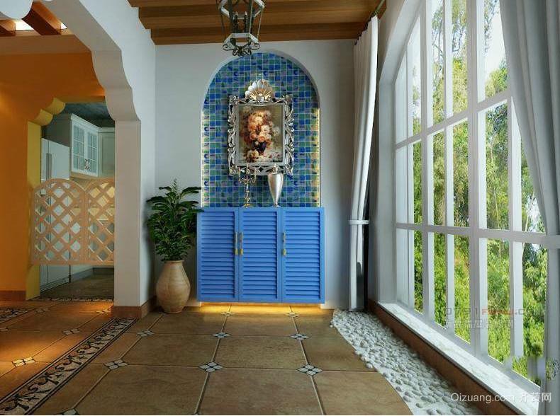 地中海风格中等阳台装修效果图