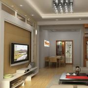 大气大户型客厅电视背景墙装修