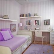 温馨女式公寓书房设计