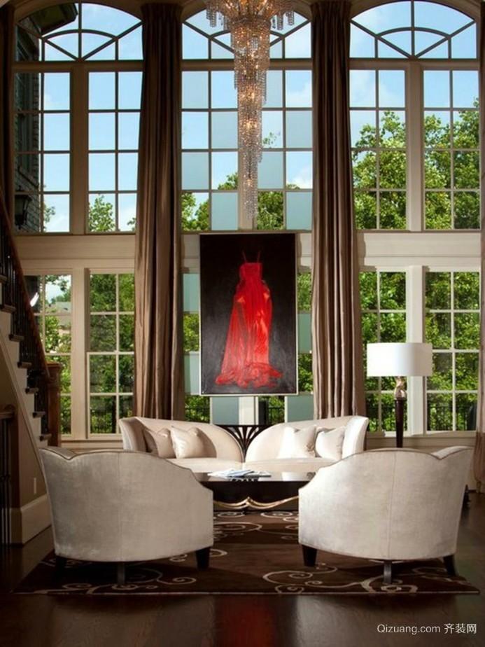 2015恬静淡雅系列客厅沙发背景墙效果图展示