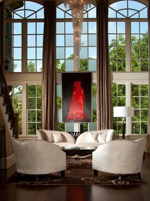 精致客厅沙发背景装修设计