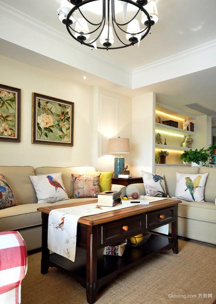 别样温情的小户客厅沙发背景墙效果图