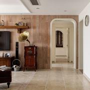 简洁美式别墅电视背景墙设计