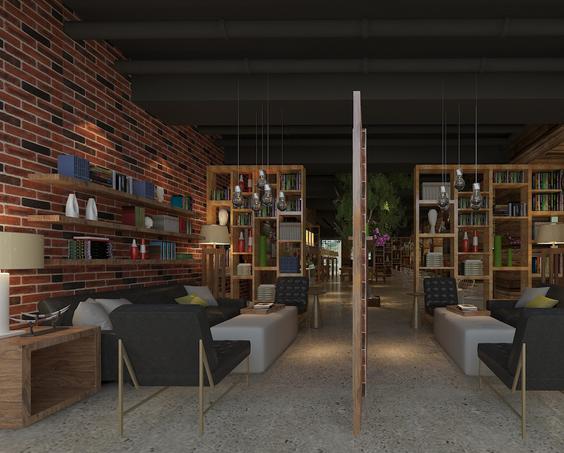 法式 复古咖啡厅 餐桌餐椅 装修效果图 装修效果图