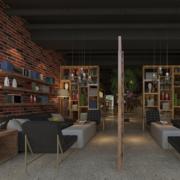 简约咖啡厅桌椅设计