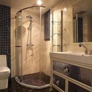 大气小户型卫生间瓷砖设计