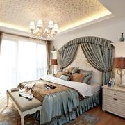 高档地中海卧室背景墙装修