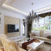 潮流欧式别墅窗帘装修设计