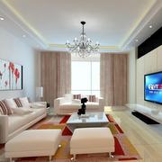 精致欧式客厅地板砖装修