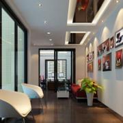 经典办公室走廊吊顶设计