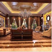 经典欧式别墅窗帘装修设计
