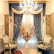 清新欧式奢华别墅窗帘设计
