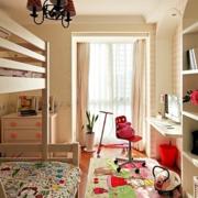 温馨儿童房整体书柜装修设计