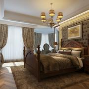 华美美式别墅卧室装修设计
