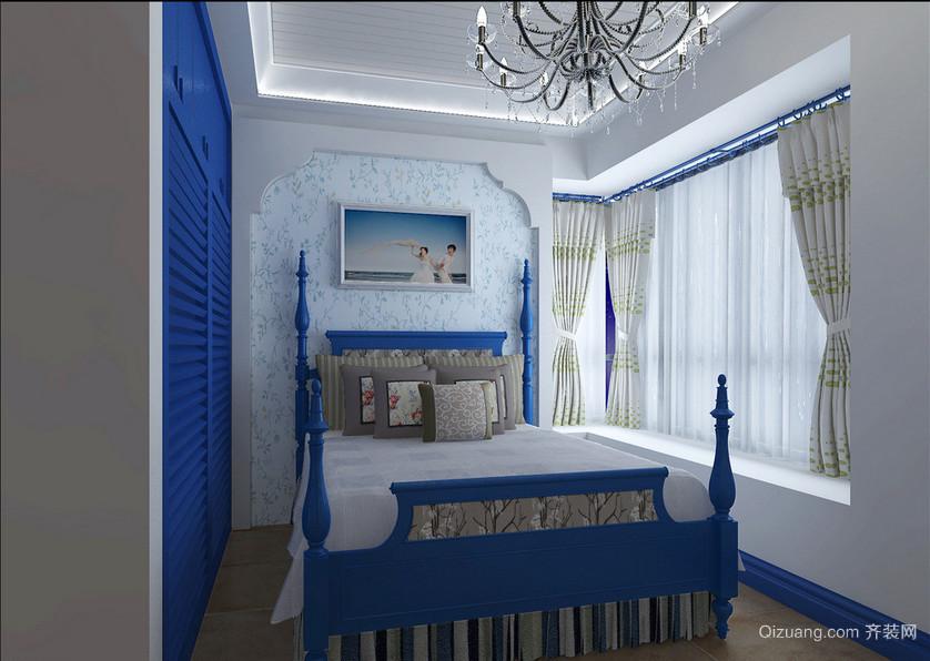 90平米大户型地中海风格卧室装修效果图