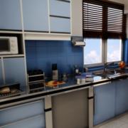 清新厨房整体橱柜设计
