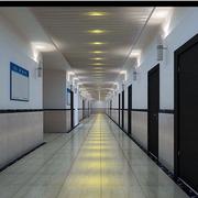 经典现代办公室走廊吊顶设计